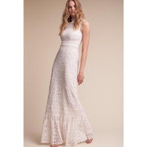 Anthropologie BHLDN Ojai Crochet Wedding Dress 12